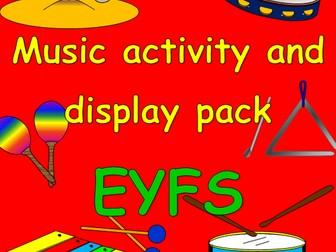 Music- games, activities, display materials