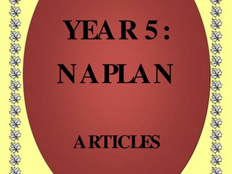 NAPLAN: Year 5 - Use of Articles