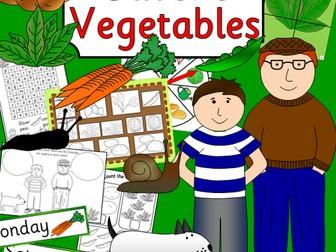 Oliver's Vegetables story sack resources