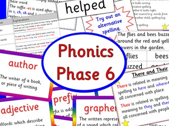 Phonics Phase 6- Letters and Sounds