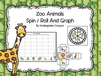 Zoo Animals Spin/Roll And Graph