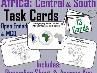 Central and South Africa Task Cards