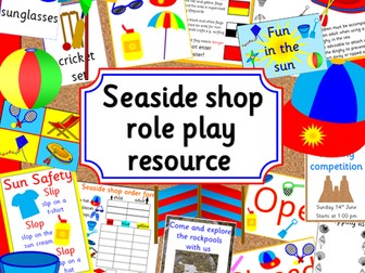 Seaside shop role play pack