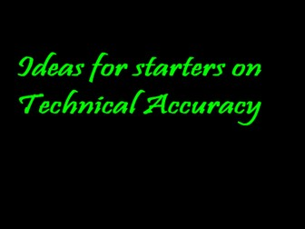 20 starter activities focused on technical accuracy (spelling, punctuation and grammar)