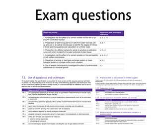 STUDENT A Level Biology Exam Questions AQA by