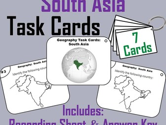 South Asia Task Cards