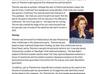 AQA A Level Britain 1950-2007: Thatcher as a leader