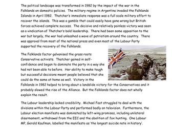 AQA A Level Britain 1950-2007: Conservative electoral success 1980s