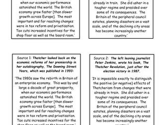AQA A Level Britain 1951-2007: Thatcher and monetarism