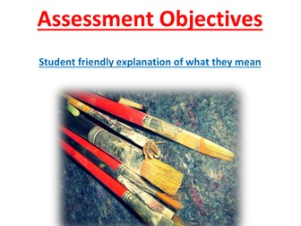 AQA GCSE Art. Explanation of what the Assessment Objectives mean