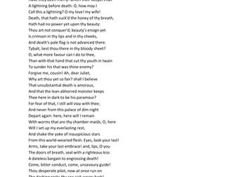 Romeo and Juliet Act 5, scene 3