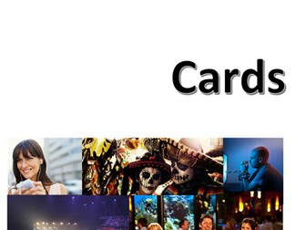 New Spanish GCSE: Identity and culture photo cards (speaking test). UPDATED
