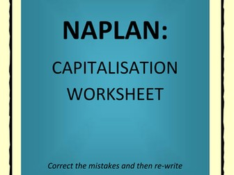 NAPLAN: Capitalisation Worksheet