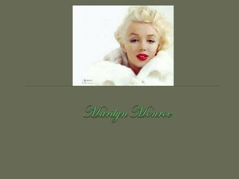 Introduction lesson: Marilyn Monroe in Blood Brothers