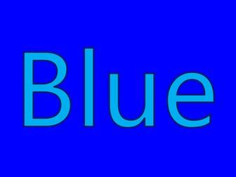 Colour BLUE - Powerpoint to teach preschoolers