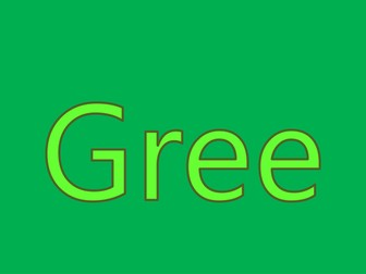 Colour Green - PPT to teach preschoolers about colours