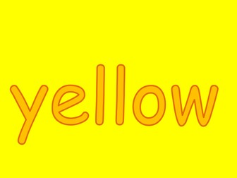 Colour YELLOW - PPT to teach children about yellow