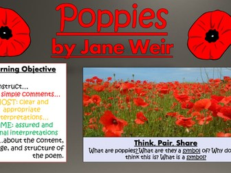poppies jane weir How can the answer be improved.