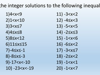 Finding integer solutions to inequalities