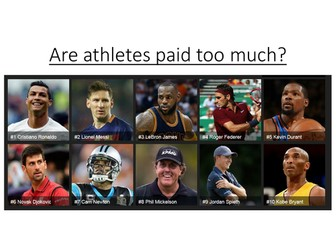 are pro athletes paid too much Athletes do not deserve what they are paid professional sports - athletes do not deserve what they are paid professional athletes are making too much.