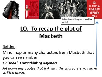 Macbeth Revision AQA - Plot
