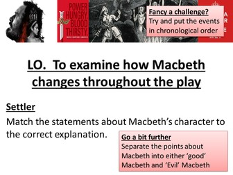 Macbeth Revision Resource AQA New Spec - How Macbeth Changes
