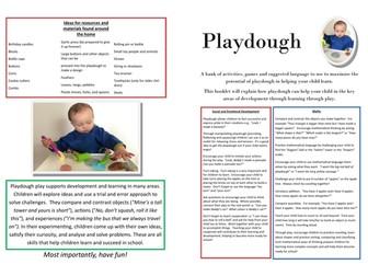 Playdough Ideas for Teachers, TAs and Parents