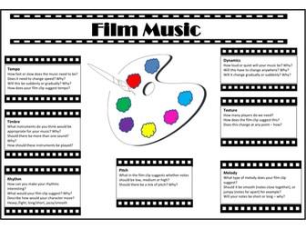Film Music Composition Placemat
