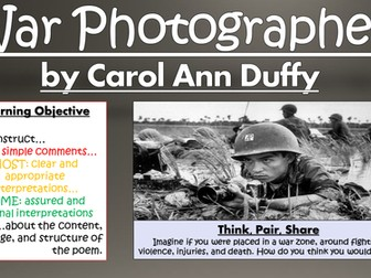 War Photographer - Carol Ann Duffy