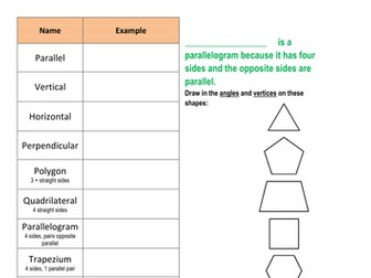 2D Shape - Identifying Shapes & their propertiese