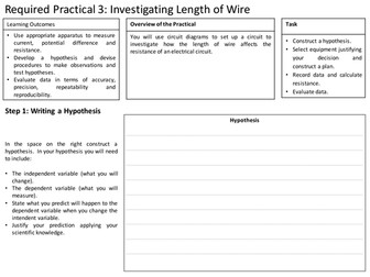 AQA GCSE Physics Required Practical 3: Resistance of a Wire