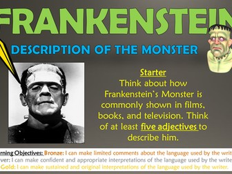 Frankenstein: Shelley's Description of the Monster!