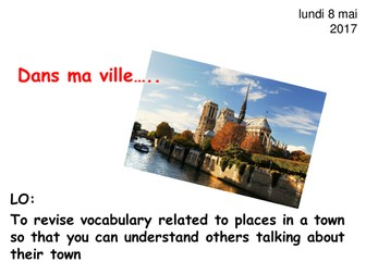 Dans ma ville - new French GCSE studio Foundation - places in town