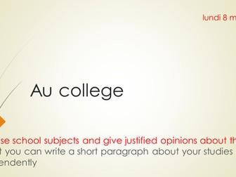 Au college Module 6 new French GCSE Studio
