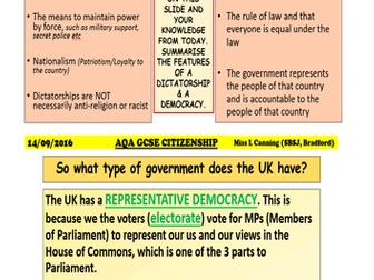 Democracy & dictatorships