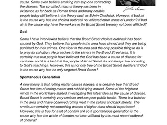 GCSE History Medicine in Britain L15 Fighting Cholera in London: John Snow