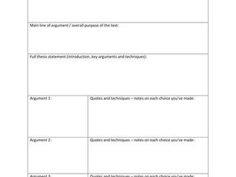 IB Diploma IOC Planning Sheet