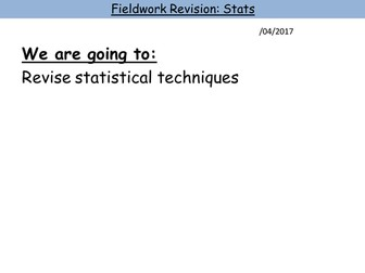 A-Level Stats Revision