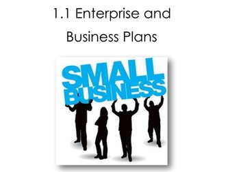 Enterprise and Business Plans Workbook