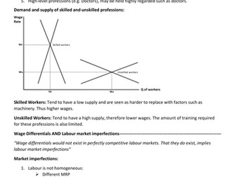 Economics AQA AS/A Level 2015 (New Specification) Labour Market