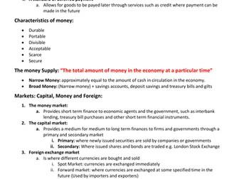 Economics AQA AS/A Level Macroeconomics Financial Markets and Monetary Policy