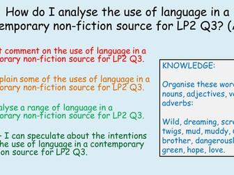 English AQA GCSE Non-Fiction Reading Comprehension Language Paper 2 Question 3 - Lesson 1