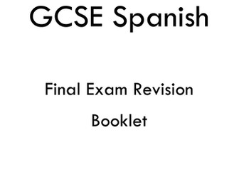 SPANISH GCSE REVISION BOOKLETS+ GAME
