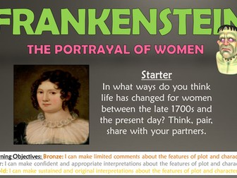 Frankenstein: The Portrayal of Women!