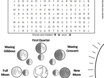Moon Phases Word Search