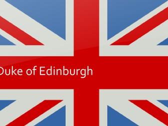The Duke of Edinburgh KS3 Lesson / Assembly Presentation