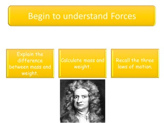 Forces lesson powerpoint for GCSE
