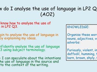 English AQA GCSE Non-Fiction Reading Comprehension Language Paper 2 Question 3 - Lesson 2