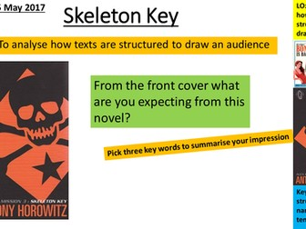 AQA Language Paper 1: Alex Rider: Skeleton Key
