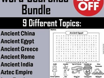 Ancient History Word Search Bundle